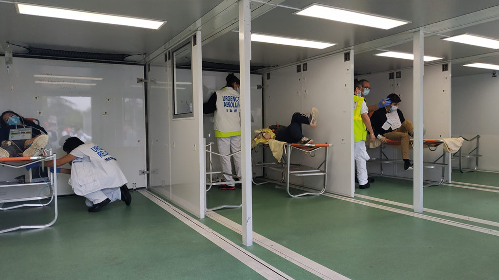 Interior view of the mobile hospital unit