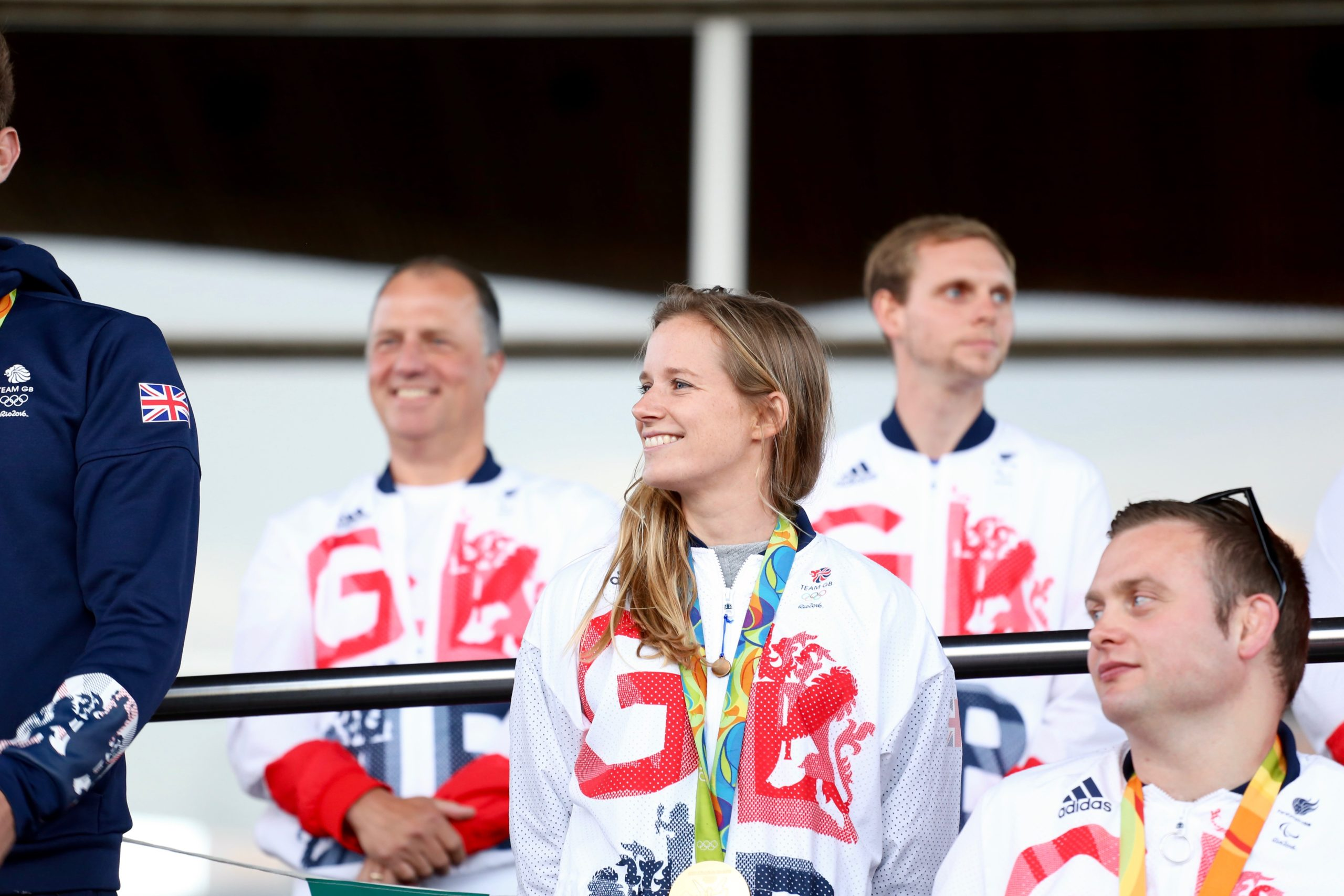 Hannah Mills returning to the United Kingdom after her 2016 Olympic title. Source: Welsh Parliament